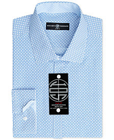 Society of Threads Men's Slim-Fit Non-Iron Performance Pattern Dress Shirt