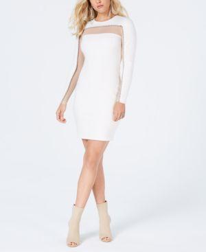 Galaxy Bead-Embellished Dress, Cream White
