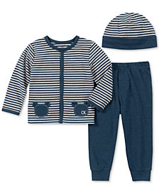 Calvin Klein Baby Boys 3-Pc. Top, Pants & Hat Set