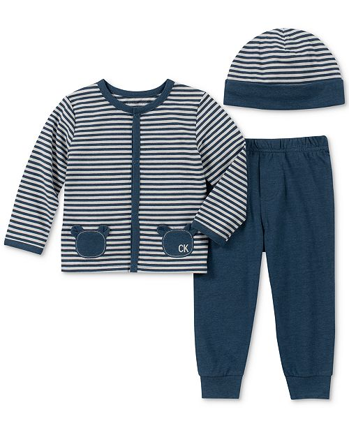 ed466ebda Calvin Klein Baby Boys 3-Pc. Top, Pants & Hat Set - Sets & Outfits ...