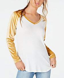 Ultra Flirt by Ikeddi Juniors' Velvet Baseball Top