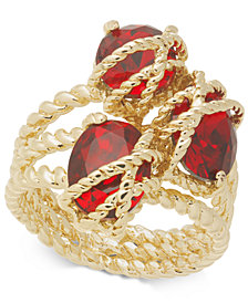 Charter Club Gold-Tone Three-Crystal Wrap Ring, Created for Macy's
