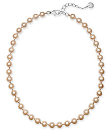 "Charter Club Silver-Tone Imitation Pearl Necklace, 16"" + 6"" extender, Created for Macy's"