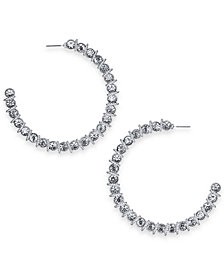 Thalia Sodi Crystal Hoop Earrings, Created for Macy's