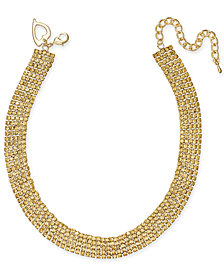 "Thalia Sodi Gold-Tone Rhinestone 13"" Choker Necklace, Created for Macy's"