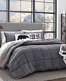 Eddie Bauer Sherwood Grey Comforter Set, Full/Queen