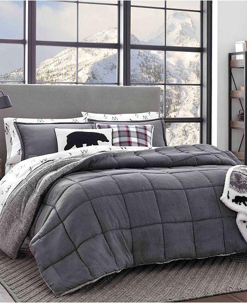 . Sherwood Grey Comforter Set  Full Queen