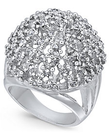 Thalia Sodi Silver-Tone Crystal Cluster Statement Ring, Created for Macy's