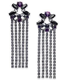 I.N.C. Crystal Fringe Drop Earrings, Created for Macy's