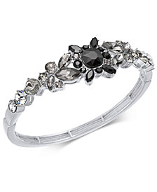 I.N.C. Silver-Tone Crystal Bangle Bracelet, Created for Macy's