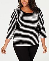 23d9f842dc6ed Tommy Hilfiger Plus Size Cotton Striped Top