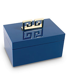 Blue Lacquer Jewelry Box