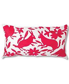 Folk Cotton Lumbar Pillow