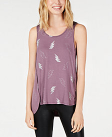 Material Girl Juniors' Lightening Bolt Tank Top, Created for Macy's