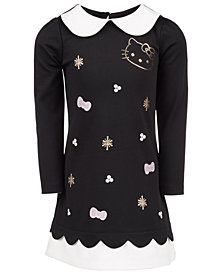 Hello Kitty Little Girls Contrast-Trim Dress