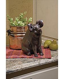 Curious Pig Figurine