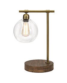 Amplitude Glass and Wood Table Lamp