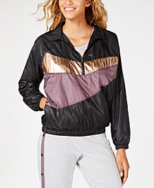 Material Girl Juniors' Colorblocked Windbreaker, Created for Macy's