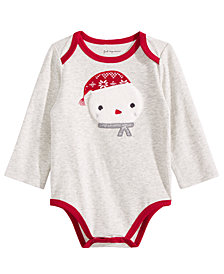 First Impressions Baby Boys Snowman Bodysuit, Created for Macy's