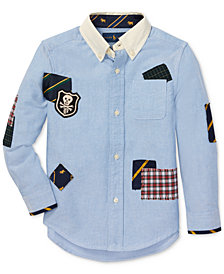 Polo Ralph Lauren Toddler Boys Patchwork Cotton Oxford Shirt