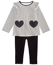 First Impressions Baby Girls Striped Tunic & Leggings Separates, Created for Macy's