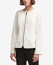 DKNY Contrast-Stitch Jacket, Created for Macy's