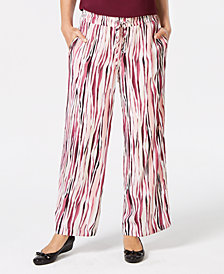 JM Collection Printed Drawstring Pants, Created for Macy's