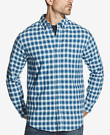 Weatherproof Vintage Men's Plaid Brushed Flannel Pocket Shirt