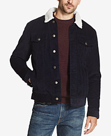 Weatherproof Vintage Men's Corduroy Fleece-Lined Trucker Jacket, Created for Macy's