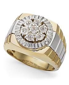Men's Diamond Two-Tone Ring in 10k Gold (1 ct. t.w.)