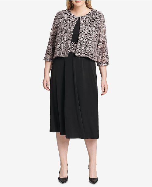 c7cb7758818e8 Jessica Howard Plus Size Dress and Lace Jacket - Dresses - Women ...