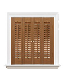 """Traditional Faux Wood Interior Shutter, 29-31""""  W x 24"""""""