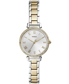 Fossil Women's Kinsey Two-Tone Stainless Steel Bracelet Watch 28mm