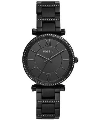 Women's Carlie Black Stainless Steel Bracelet Watch 35mm