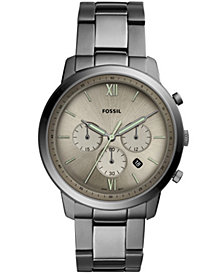 Fossil Men's Chronograph Neutra Smoke Stainless Steel Bracelet Watch 44mm