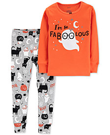 Carter's Baby Girls 2-Pc. Halloween Faboolous Pajama Set