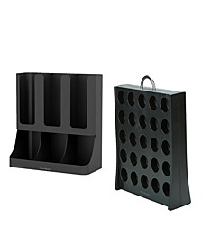 Coffee Accessories Organizer with K-Cup Holder Storage, Black
