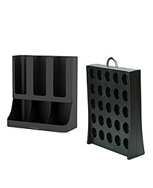 Mind Reader Coffee Accessories Organizer with K-Cup Holder Storage, Black