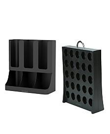 Mind Reader Coffee Accessories Organizer with K-Cup Holder Storage, Black