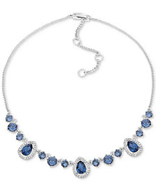 "Givenchy Stone & Crystal Collar Necklace, 16"" + 3"" extender"