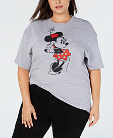 Mighty Fine Plus Size Cotton Classic Minnie Mouse T-Shirt