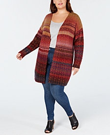 Style & Co Plus Size Ombré Open Cardigan, Created for Macy's