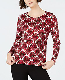 Charter Club Cotton Printed T-Shirt, Created for Macy's