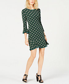 MICHAEL Michael Kors Ruffled Shift Dress, in Regular and Petite Sizes