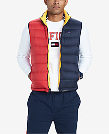 Tommy Hilfiger Men's Valero Reversible Colorblocked Down Puffer Vest, Created for Macy's
