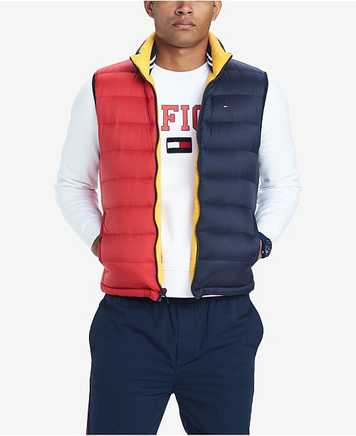 c4e6f4c5 ... Tommy Hilfiger Men's Valero Reversible Colorblocked Down Puffer Vest,  Created for Macy's ...