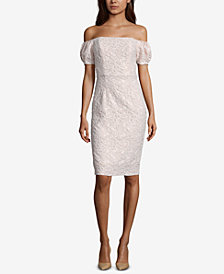 Betsy & Adam Off-The-Shoulder Sheath Dress