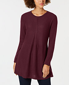 Style & Co Swingy Knit Tunic Top, Created for Macy's