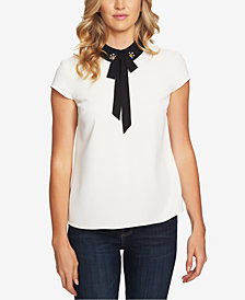 CeCe Embellished-Collar Blouse
