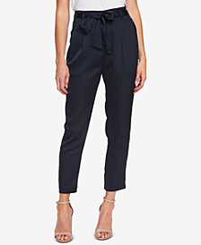 CeCe Tie-Belt Ankle Pants